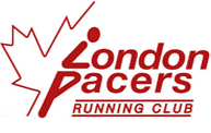 London Pacers Running Club - the London Ontario running club's logo.